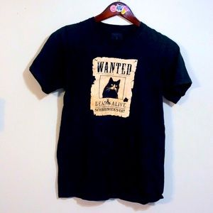 Wanted: Schrodinger's Cat funny black graphic tee